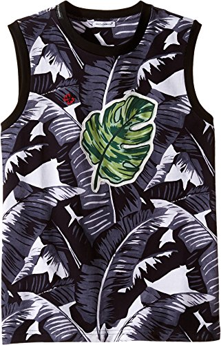 Dolce & Gabbana Kids Boy's Banana Leaf Sleeveless T-Shirt (Big Kids) Black T-Shirt by Dolce & Gabbana