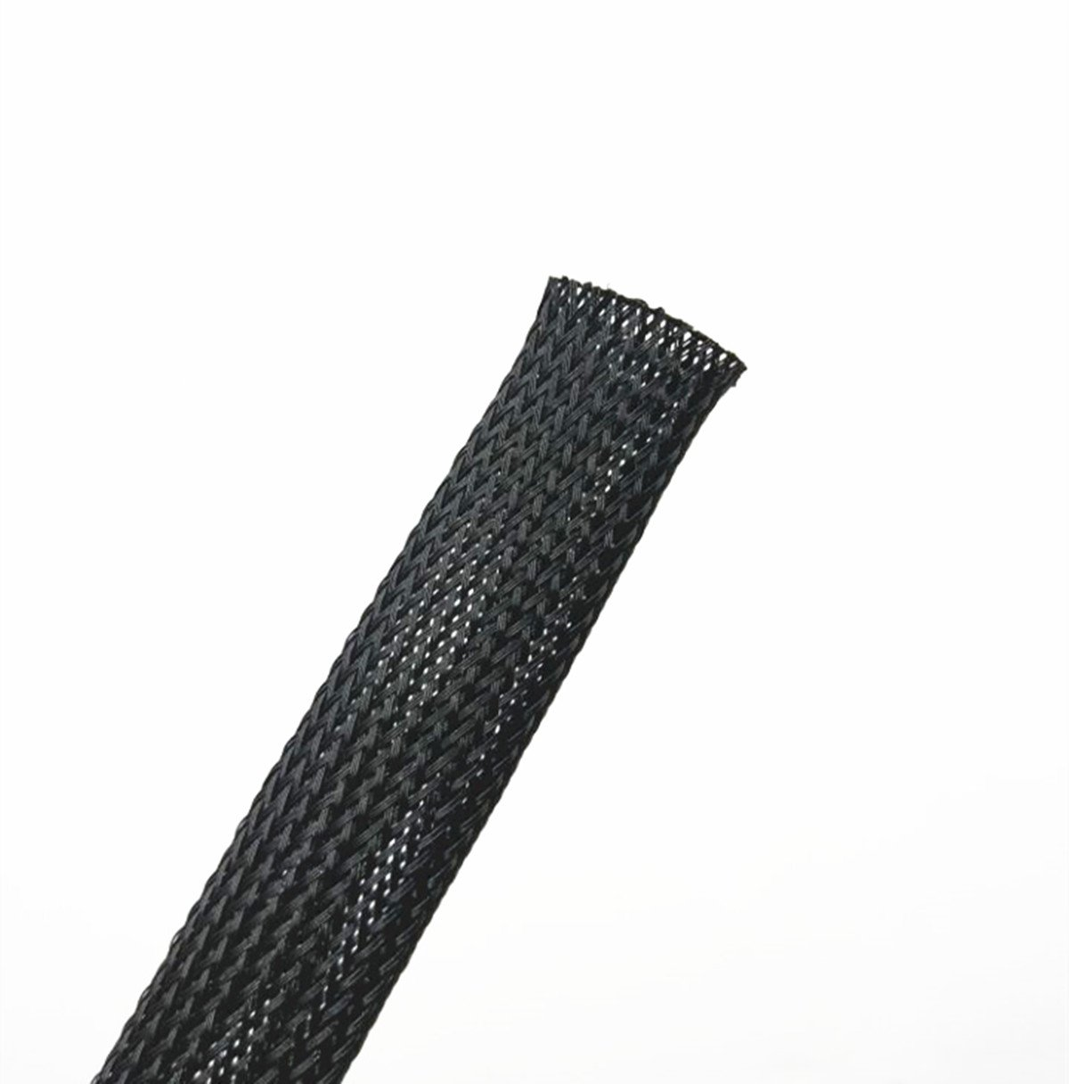 Wang-Data PET Black Braided Cable Sleeve 3/4 inch X 100ft (3/4'' X 100')