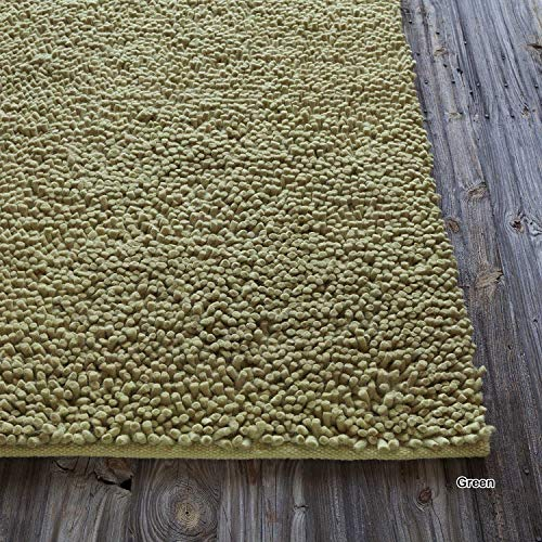 Artist's Loom Hand-Woven Contemporary Abstract Pattern New Zealand Wool Shag Rug (7'9