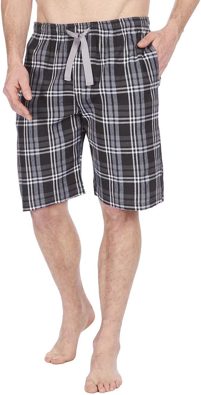 Insignia Hombre Polialgodón Pijamas Salón Pantalones Cortos Cuadros