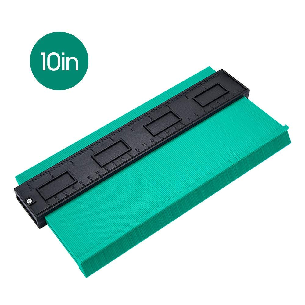 multi-functional contour profile gauge,In woodworking auto metal sheet auto body 25cm stainless steel or any job of contour duplication Contour Gauge,shape contour gauge duplicator,10 inch Green