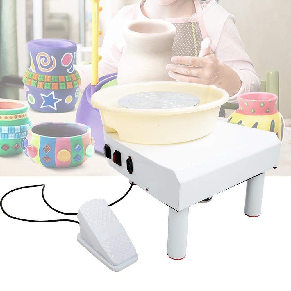 250W 25cm US Ceramic Machine,250W//350W 3 Foot 0~300r//min Brushless Electric Pottery Wheel Machine Low Noise Household Clay Forming Tool for Ceramics Clay Art Craft DIY Clay