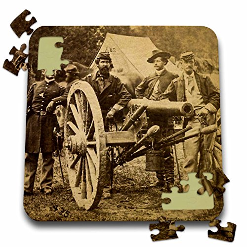Scenes from the Past Stereoview - Vintage Civil War 1862 Battle of Fair Oaks Virginia Stereoview - 10x10 Inch Puzzle - Virginia Fair Oaks