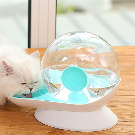 Sorlakar - Bebedero Automático para Mascotas De 2,8 litros para Uso en Exteriores de Oficina en casa Fuente De Agua para Gatos Dispensador De Agua para Gatos Perros Otros Animales (Azul): Amazon.es: