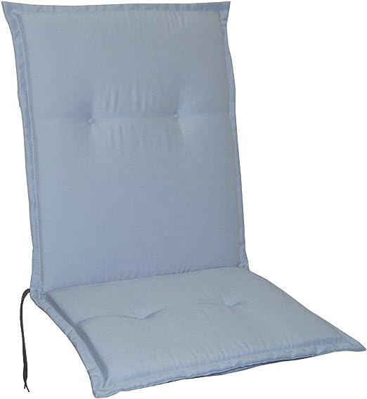 Schwar Textilien - Cojines para sillas de jardín, respaldo bajo, 5 colores, plata: Amazon.es: Jardín