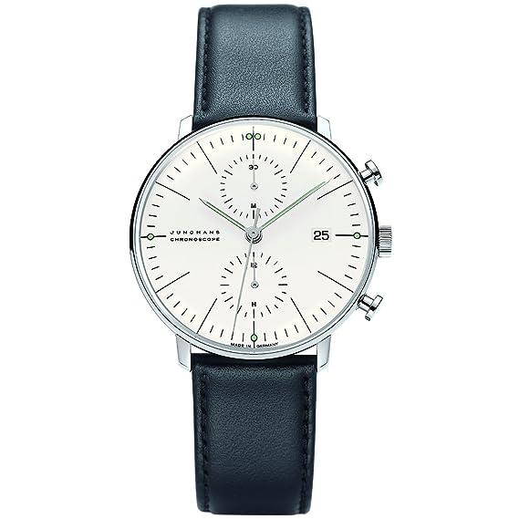 Junghans Max Bill Chronoscope 027/4600.00 - Reloj cronógrafo automático para hombre, correa de