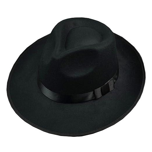 74c082d5d2c3a Image Unavailable. Image not available for. Color  Men Wool Felt Fedora Hat  ...