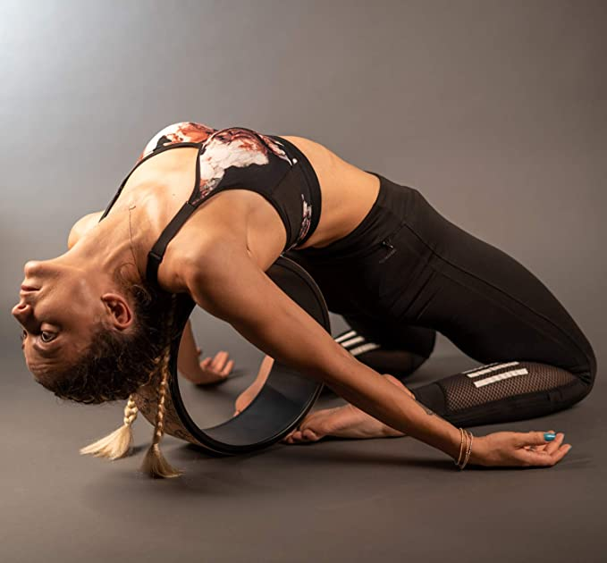 Yoga Wheel 13 – Strong & Comfortable Dharma Yoga Prop Wheel for Inversions & Backbends + Online Videos