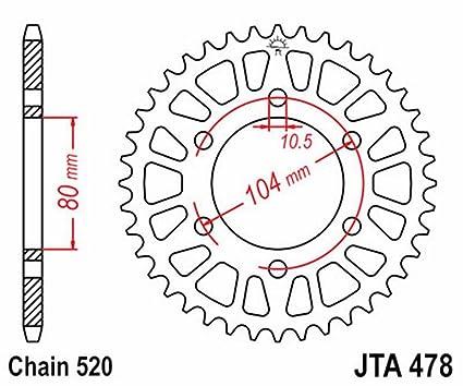 JT - A47846 : Corona 478 De Aluminio Con 46 Dientes: Amazon ...