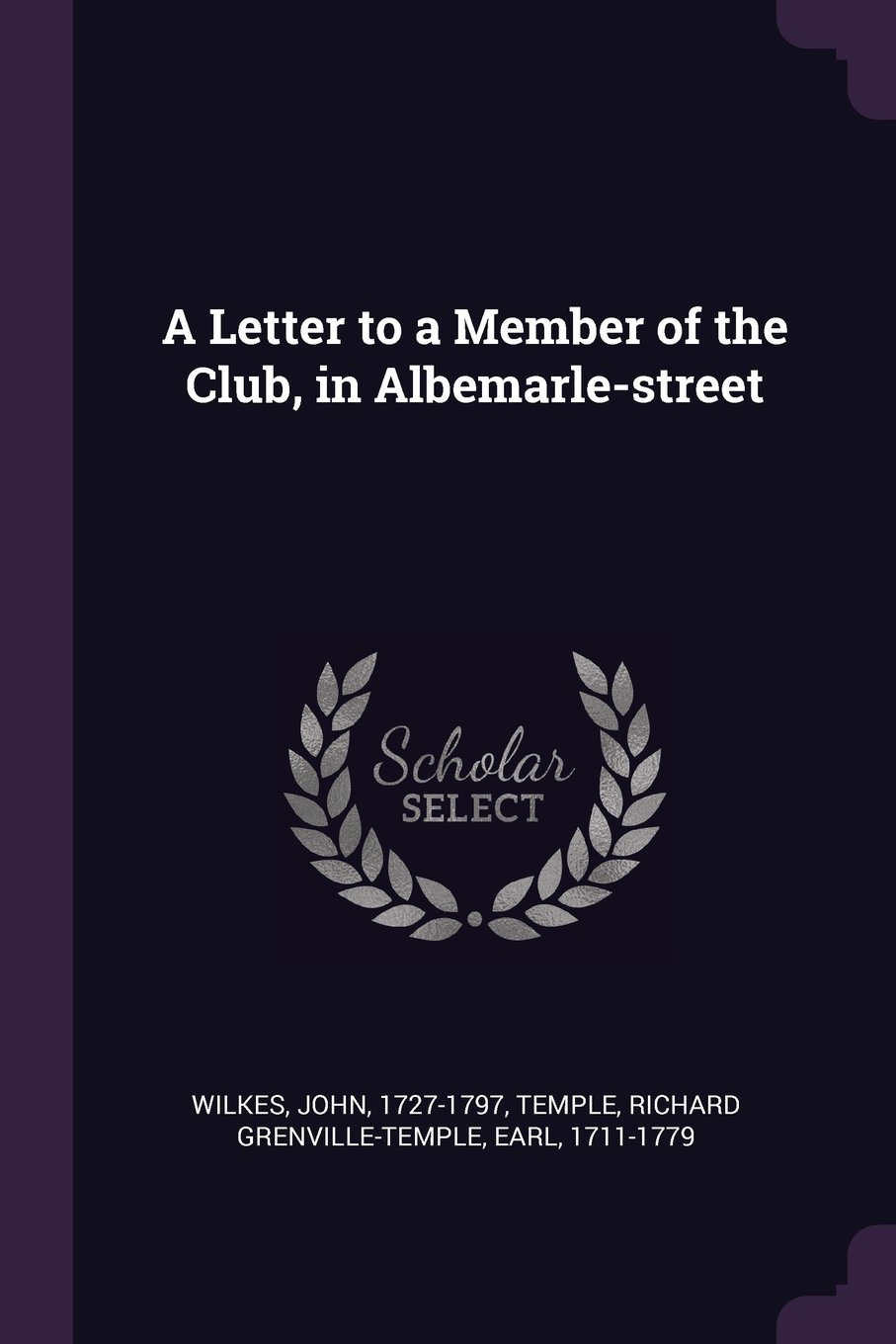 A Letter to a Member of the Club, in Albemarle-Street pdf epub