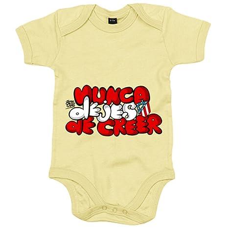Body bebé Atlético de Madrid letras nunca dejes de creer ...