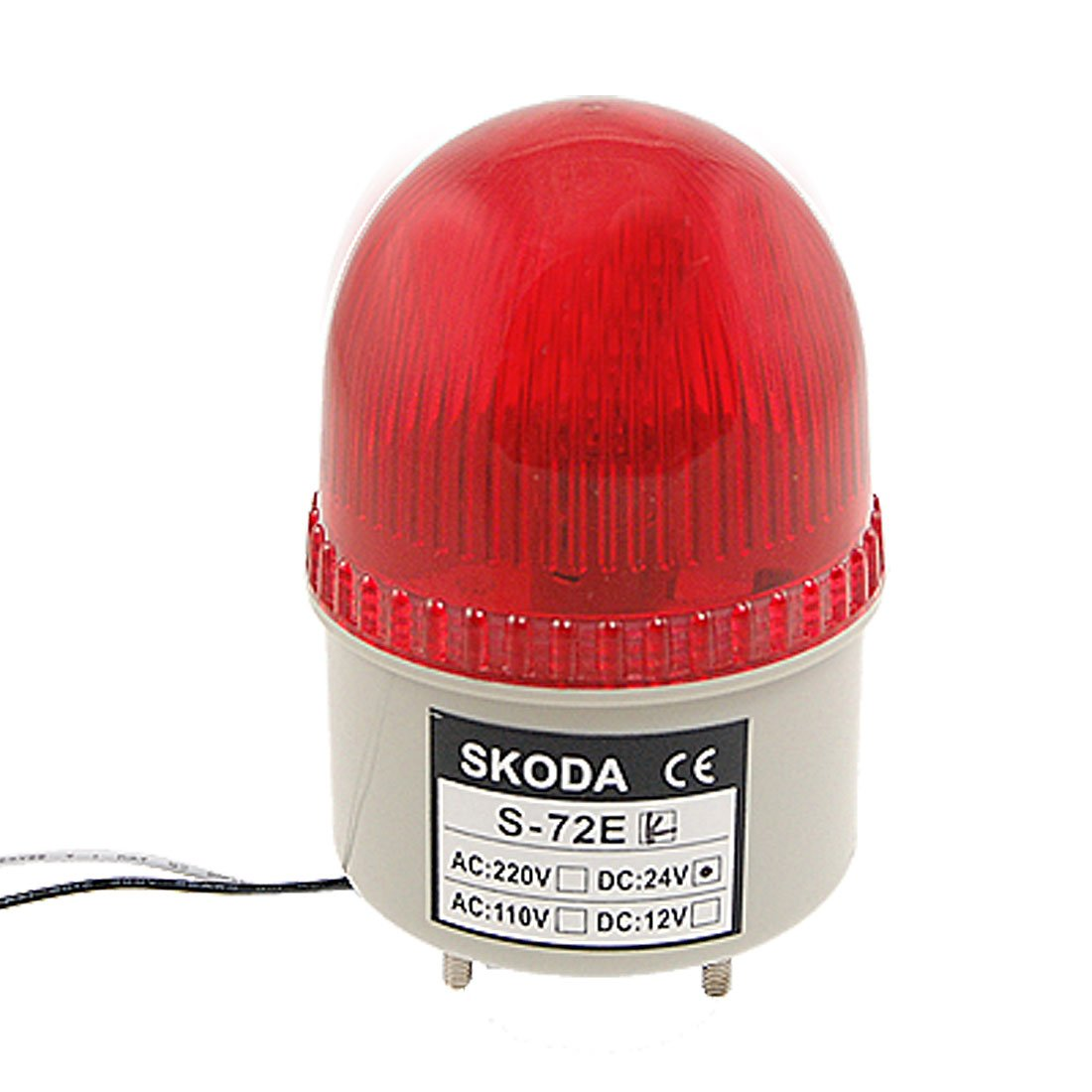 uxcell LED Warning Light Rotating Flashing Industrial Signal Alarm Lamp DC 24V Yellow LTE1101L