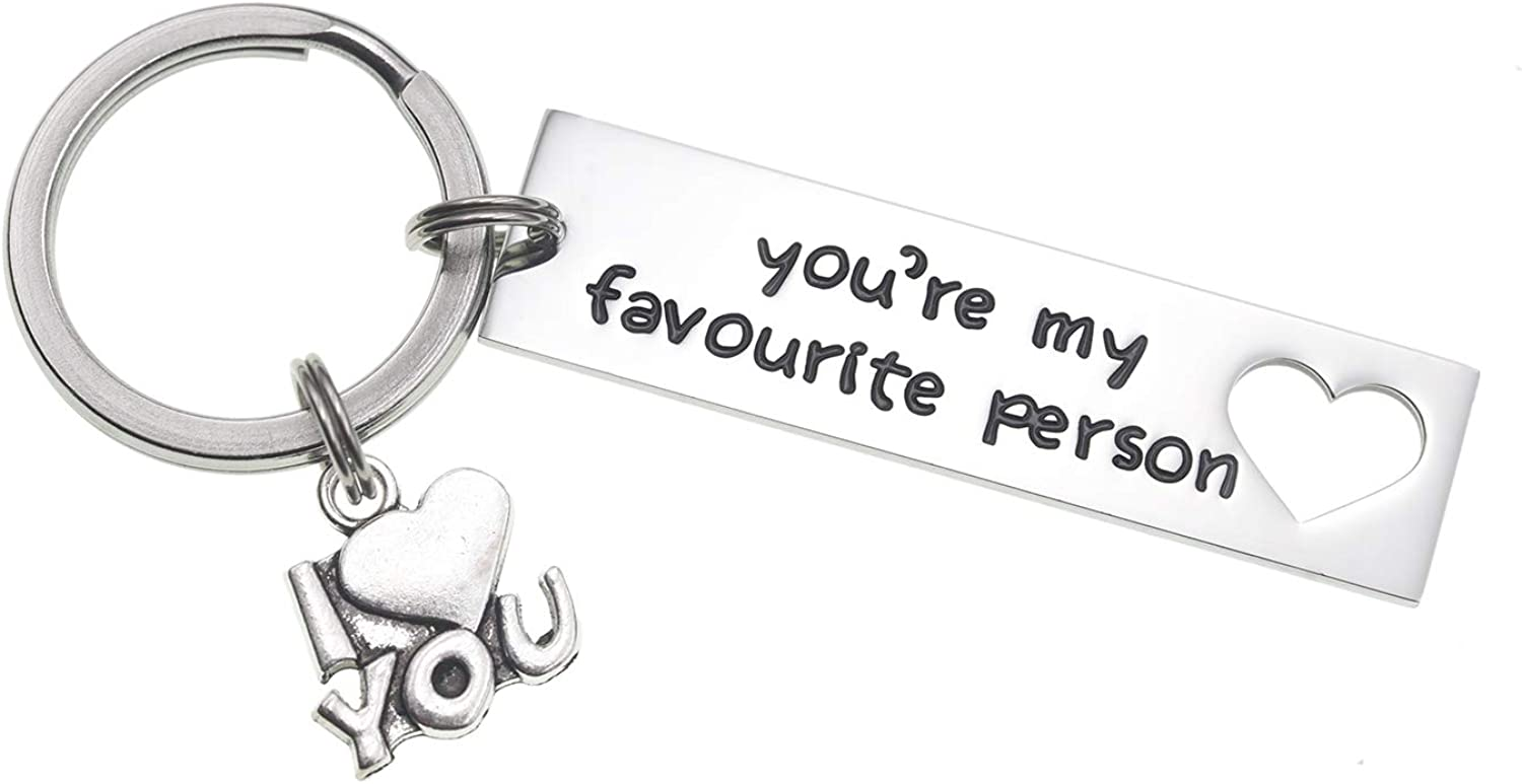 Melix Home Boyfriend Girlfriend Gifts Keychain You're My Favorite Person Valentine Gift Anniversary Present for Husband Wife Keychains