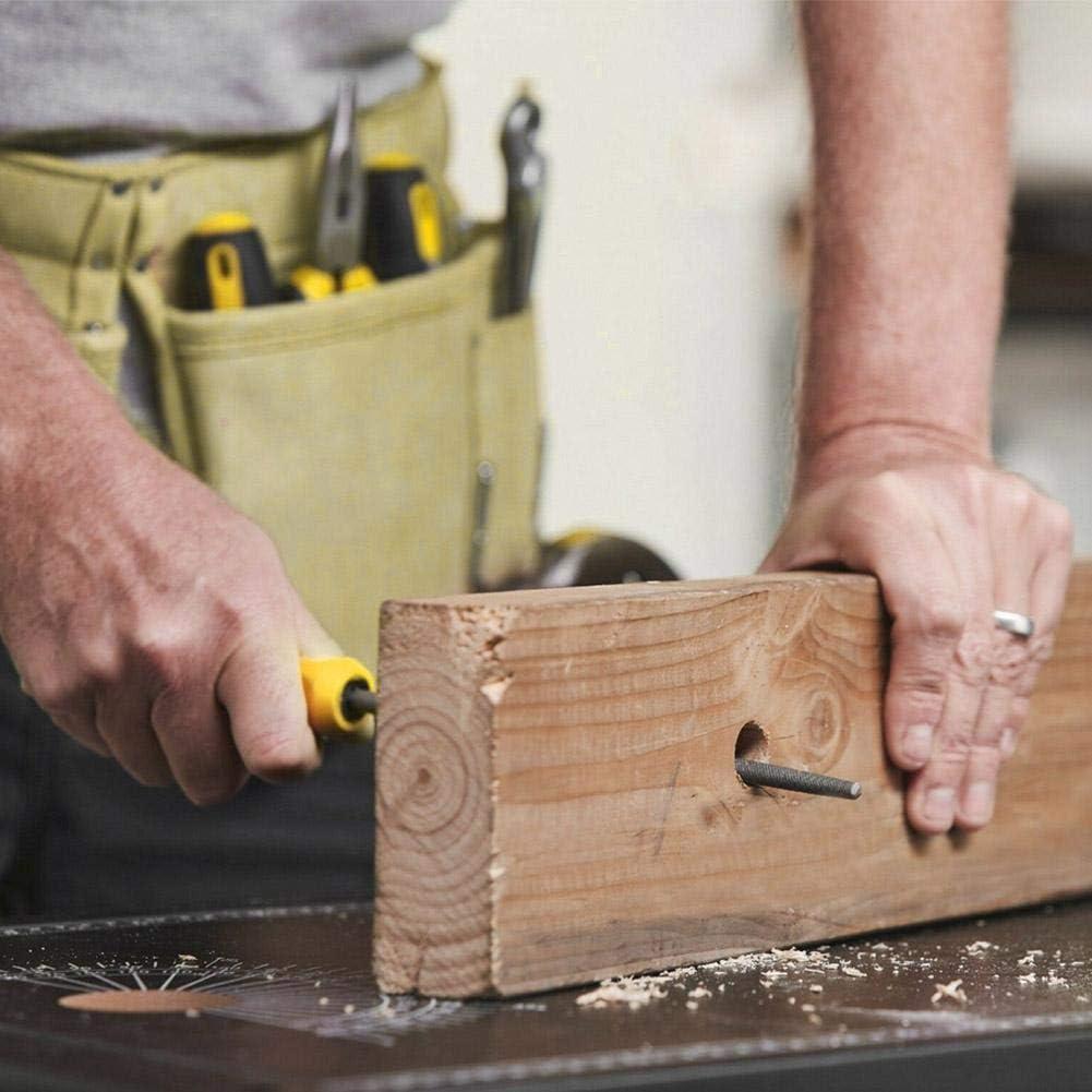 5 piezas de archivo de escofina giratoria de acero 1//4v/ástago archivos de artesan/ía rotativos fresas de escofina brocas de madera herramienta de mano de carpinter/ía de molienda ESjasnyfall