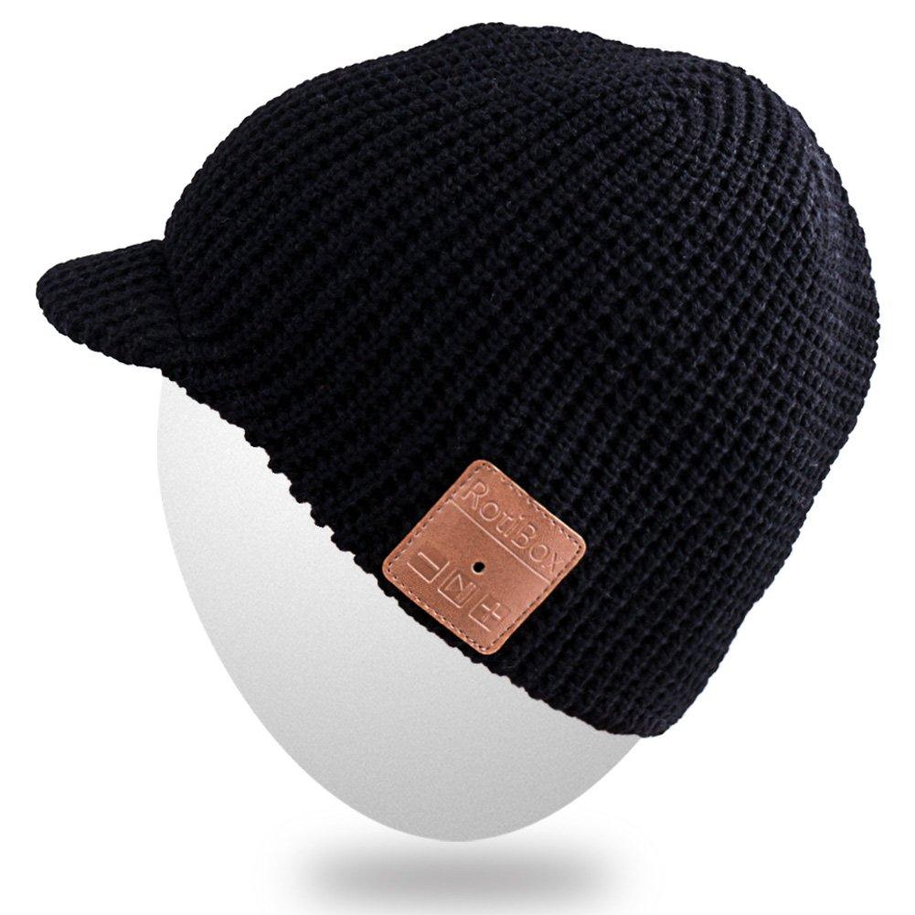 MYDEAL Winter-Frauen der Männer Trendy Drahtlose Bluetooth-Hut-Kappe mit Kopfhörer Ohrhörer Stereo-Lautsprecher Mic Freie Hände für Outdoor-Sport, Kompatibel mit iPhone Android Handys iPad Laptops Tablets - Grau MY-UK-BB010-HUI