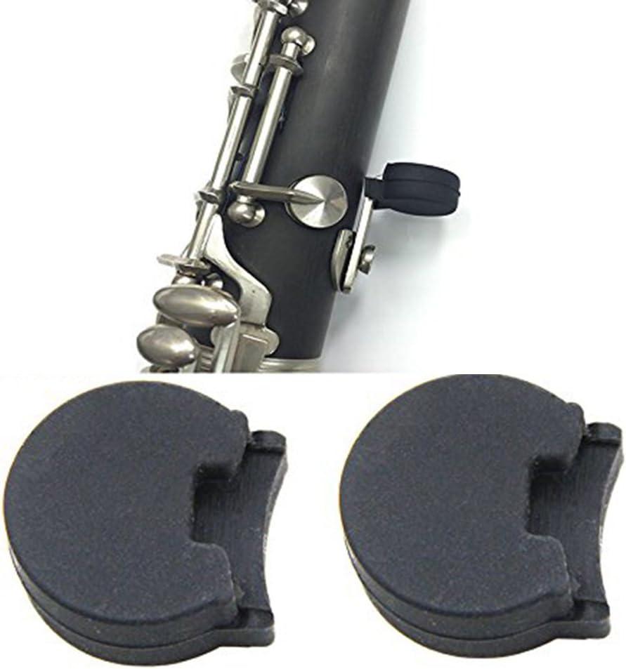 caja de 5/piezas 10/mm de goma blanca Protecci/ón para el descanso del pulgar para Oboe Linterna antorcha