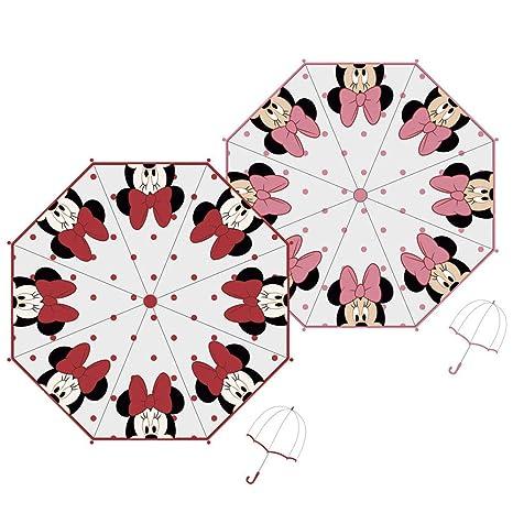 ARDITEX Parapluie Cloche Pour Enfant Sous Licence Minnie Mouse En Eva Transparent 48Cm 2 Assortis Paraguas