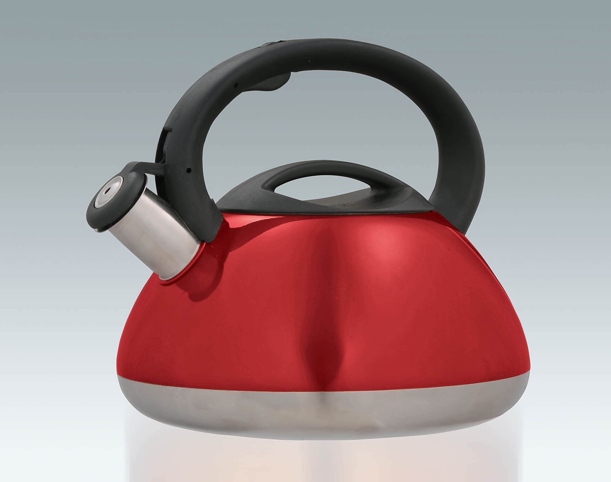Creative Home Sphere 3-Quart Cranberry Stainless Steel Tea Kettle