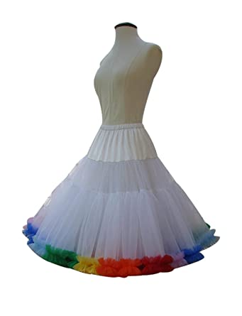 b6ba59360ae6 Izanoy Damen TuTu Rock Petticoat Rüschen Dance Party Unterrock Half ...