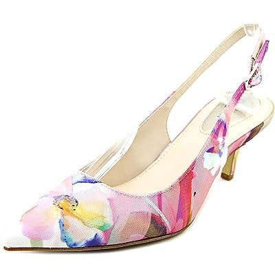 Alfani Babbsy Women US 7 Multi Color Slingback Heel