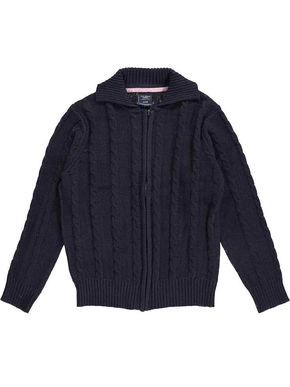 U.S. Polo Assn. Big Girls' Cable Comfort Cardigan