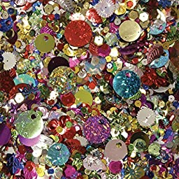 Creativity Street 6114 Sequins & Spangles, Assorted Metallic Colors, 4 oz/Pack (CKC6114) by Creativity Street