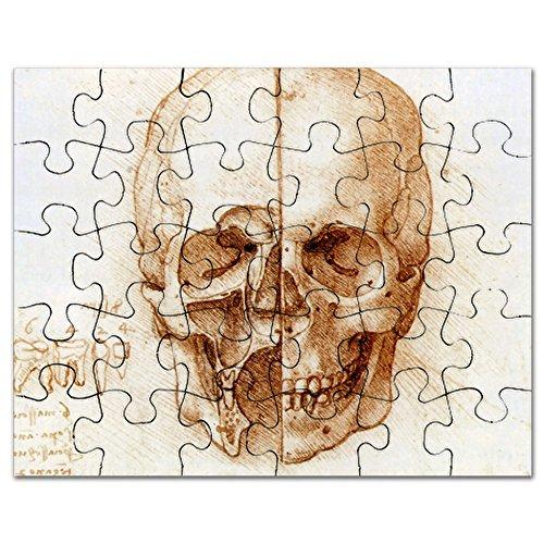 CafePress - Skull Anatomy by Leonardo Da Vinci - - Jigsaw Puzzle, 30 pcs.