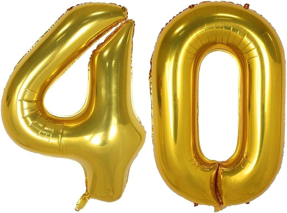 Amazon.com: Globos de helio de 40 pulgadas con números ...