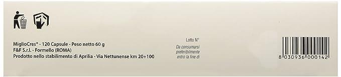 MiglioCres Capelli Uomo - Suplemento alimentario, 60 ...