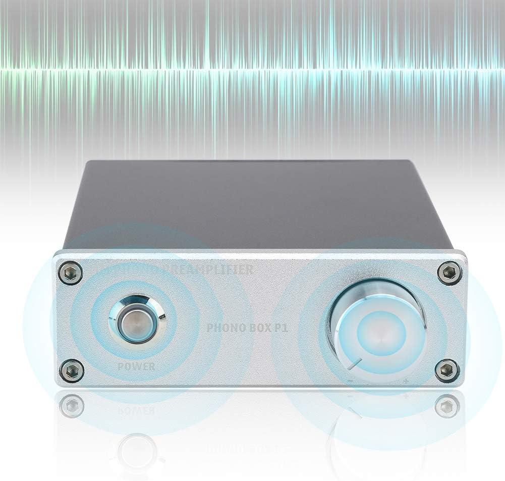 Cosiki Amplificador de Tocadiscos, Chapado en Oro para Entrada RCA ...