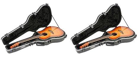 2) SKB 1SKB-16 - Carcasa rígida para guitarra con forma ...