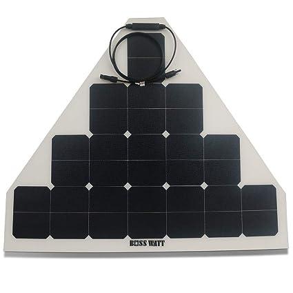 Amazon com : Boss Watt 70W Triangle Flexible Solar Panel - SunPower