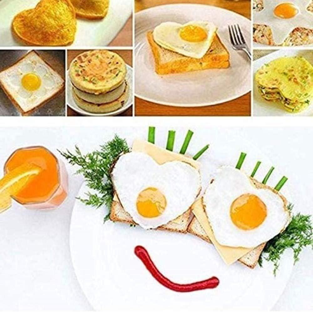 para huevos o magdalenas Molde para panqueques de silicona antiadherente 2 unidades panqueques CHICIEVE