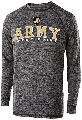 Ouray Sportswear NCAA Army Black Knights Men's Electrify Long Sleeve Tee, Small, Black -