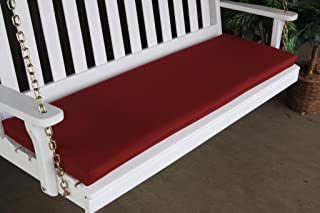 product image for Furniture Barn USA 5 Foot Outdoor Bench, Glider or Swing CushionSundown Material- Burgundy