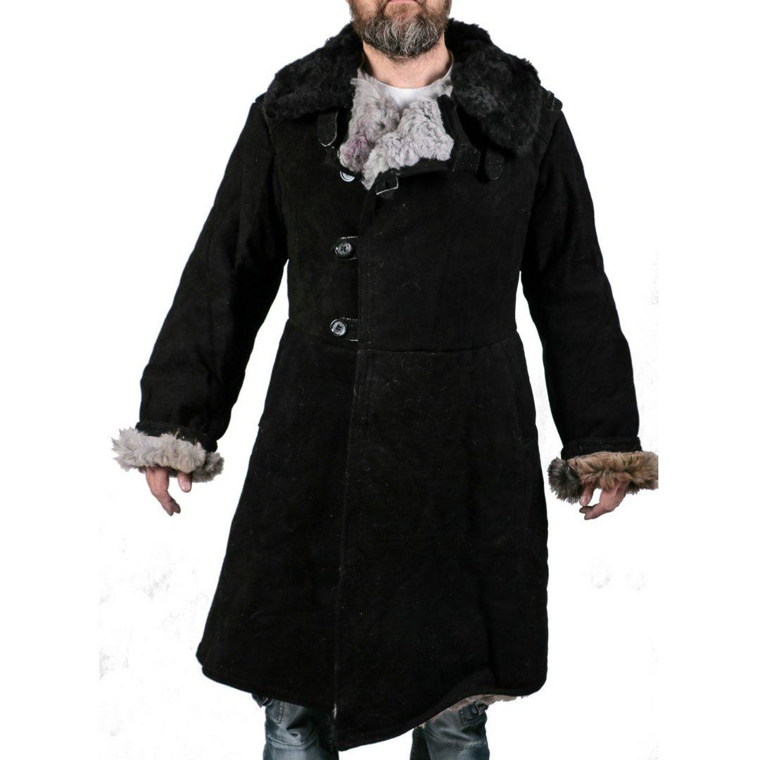 CORUND Russian Sheepskin Leather Coat - Waterproof, Windproof Shearling Jacket