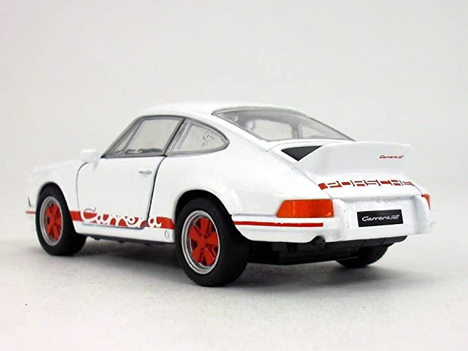Amazon.com: 4.5 inch 1973 Porsche 911 Carrera RS 1/32 Scale Diecast Model by Welly - White/Red: Toys & Games