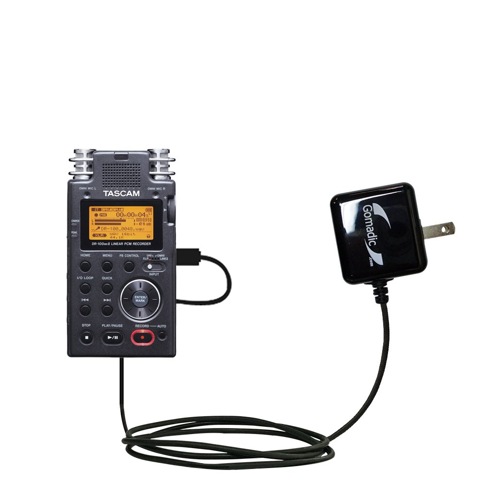 Advanced Rapid Wall AC Charger Compatible with Tascam DR-100 MKII - Amazingly powerful home charge design built with Gomadic Brand TipExchange