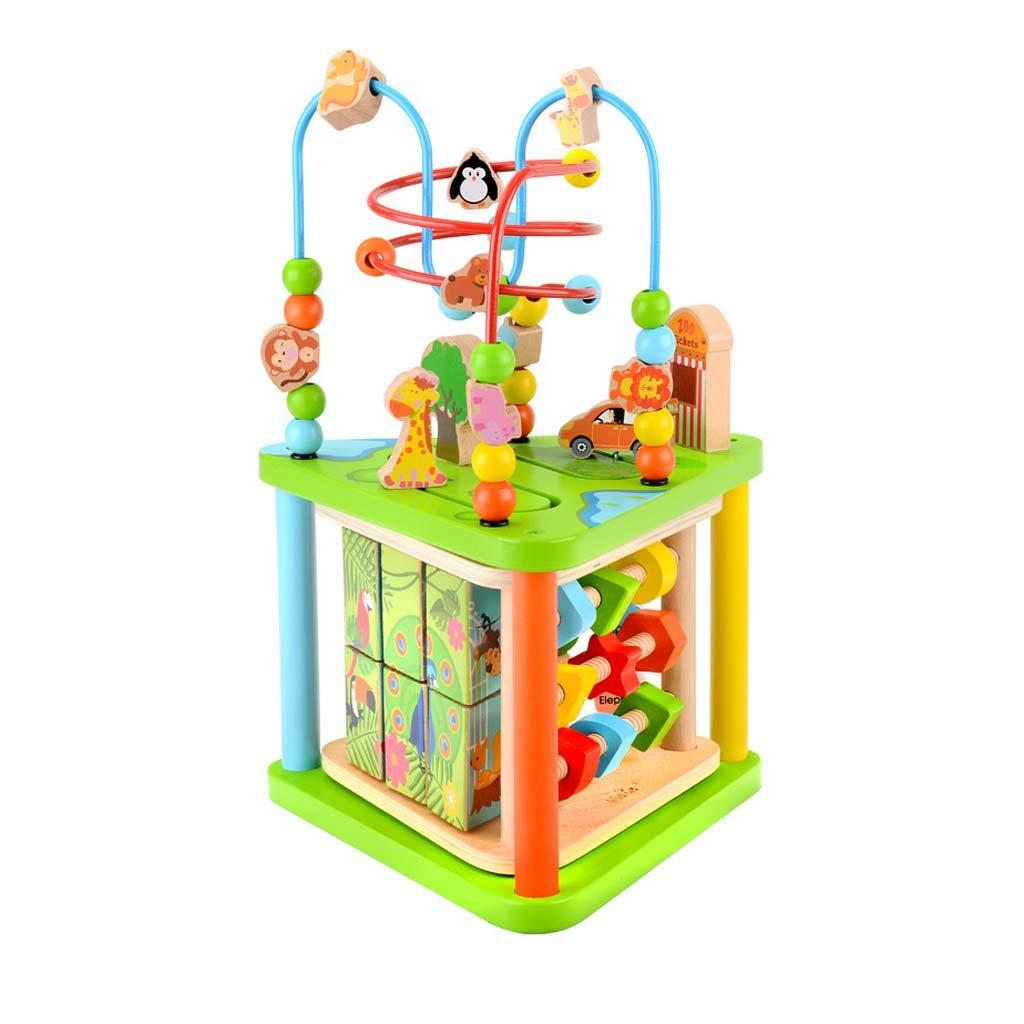 Activity Cube Centro Di Apprendimento Precoce Giocattoli Per Bambini Bead Maze Centro Didattico In Legno Educativo Multiuso Ideale Per Bambini Dai 2 Ai 6 Anni Bambini Piccoli Regali