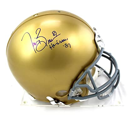 Image Unavailable. Image not available for. Color  Tim Brown Signed Notre  Dame Fighting Irish Riddell NCAA ... 39441dfb0