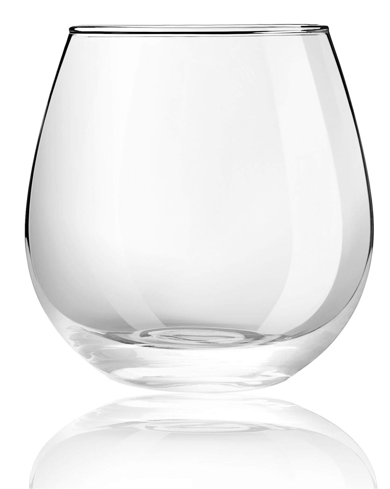 JoyJolt Spirits Stemless Wine Glasses 15 Ounce, Set of 4 Great For White Or Red Wine Mother's Day Wine Gifts Wines Glass Sets by JoyJolt (Image #4)