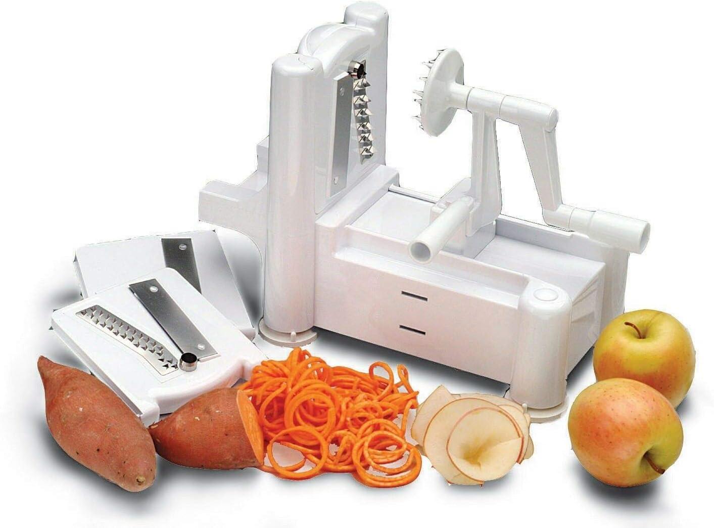 1 Spiral Vegetable Slicer Chopper Shredder Spiralizer Veggie Pasta Maker Fruit