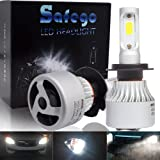 Safego H7 Faro Bulbi Auto LED Luci 8000LM Lampada COB Kit 6500K