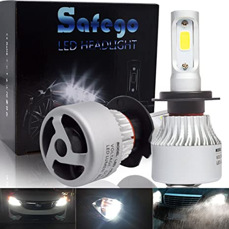 Safego H7 Faro Bombillas Alquiler de luces LED 60W 8000LM brillante estupendo de la lámpara con