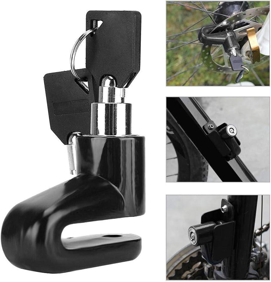 Motocicleta Scooter de Seguridad port/átil y Conveniente con 2 Llaves Bloqueo del Rotor Rueda Disco Freno Azul Candado antirrobo para Bicicletas