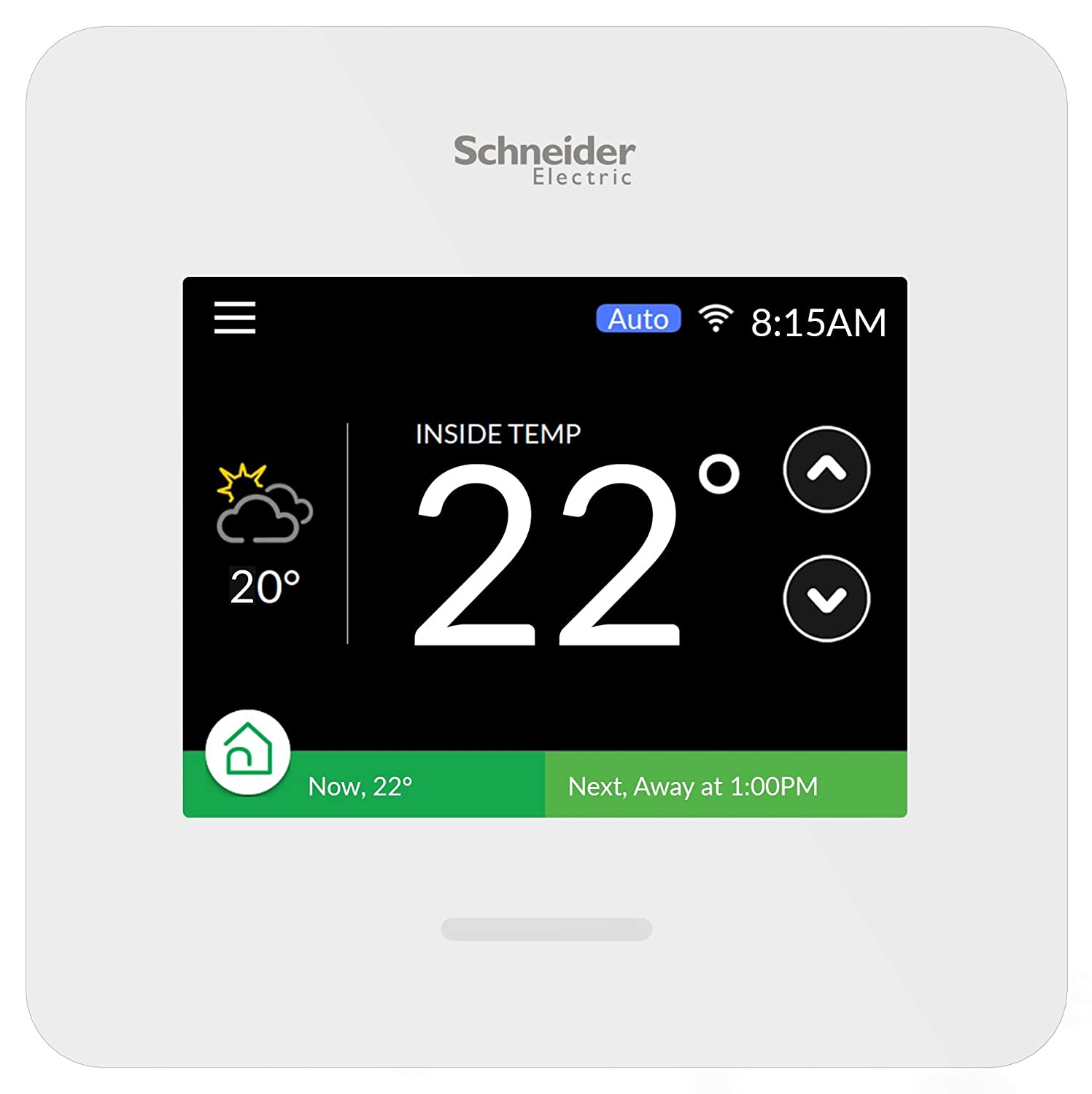 Schneider Electric Wiser Air Smart Thermostat Wi Fi Programmable Wiring Iris With Comfort Boost And Touch Screen Display White Tools Home Improvement Amazon