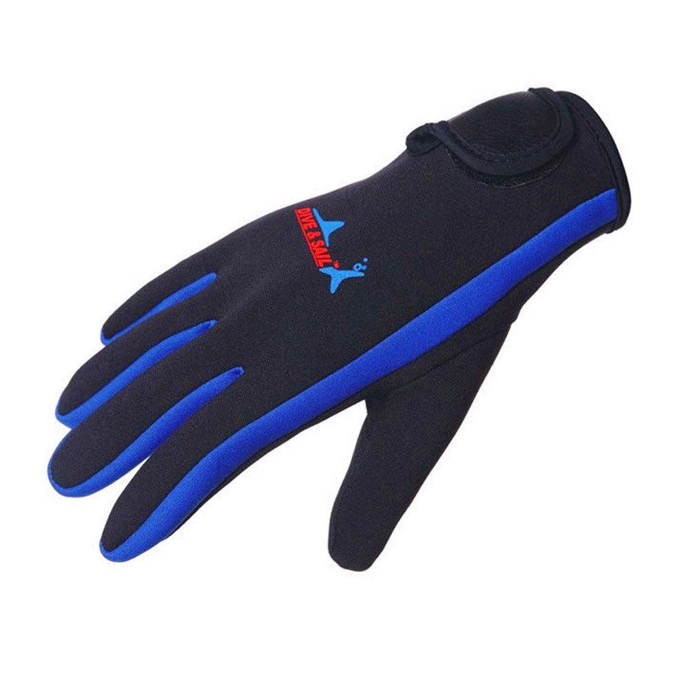 DIVE /& SAIL Wetsuits 1.5 mm Premium Neoprene Gloves Scuba Diving Five Finger Glove DG-001-YL-S-Parent