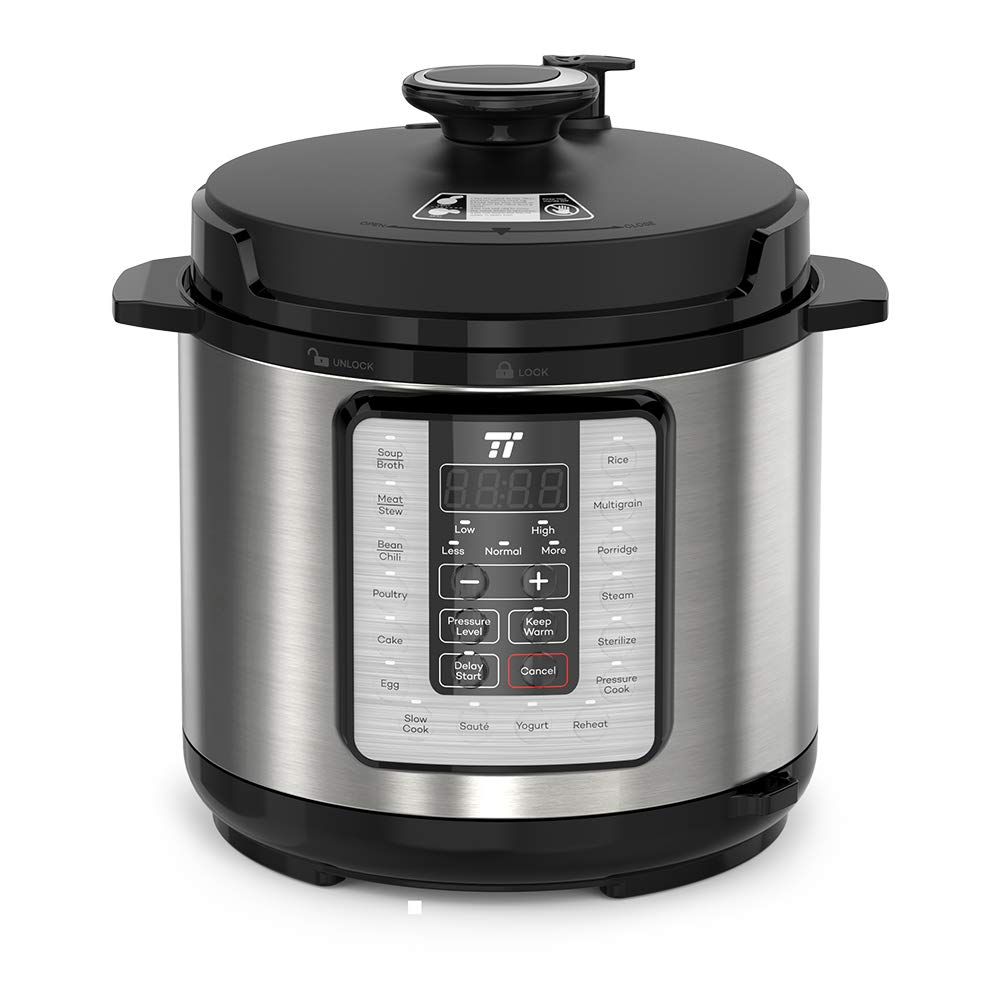 TaoTronics TT-EE006 Electric Pressure Cookbook 6QT, 10-in-1 Multi-Use, 16 Programs, FDA and ETL Approved, Slow, Rice Cooker, Steamer, Sauté Pot, Yogurt Maker, Food Warmer, Sterilizer, 6 QT
