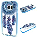 Electronics : S7 Case, Galaxy S7 Case, ArtMine Dream Catcher Hybrid Slim Two Piece Transparent Clear Silicone TPU Back Cover Bumper Frame Case for Samsung Galaxy S7
