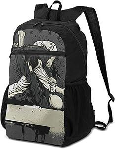 Laptop Backpack Brazilian Jiu-Jitsu Warrior Big Shoulder Backpacks Bag Bookbag Daypack